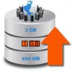Ampliación Anual a 1 GB de Espacio en Disco para su Web con Mantenimiento