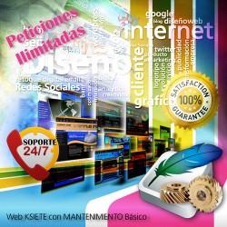 Web con Mantenimiento Anual Ilimitado